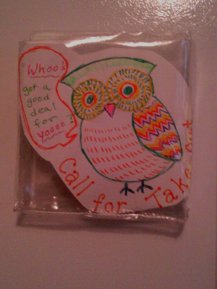 Owl coupon holder empty